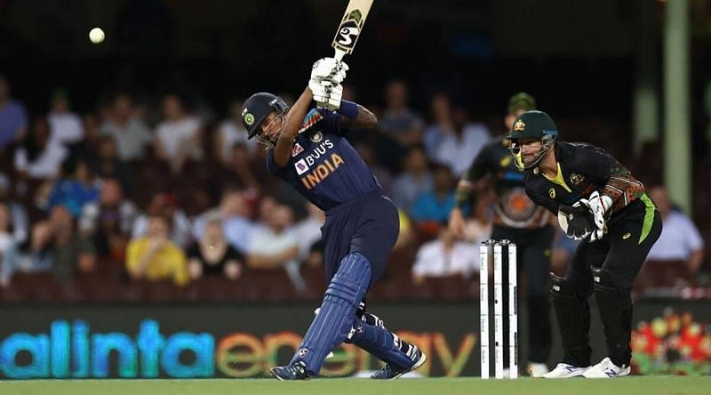 Hardik Pandya tried his best to win the game for India, but was dismissed by Adam Zampa