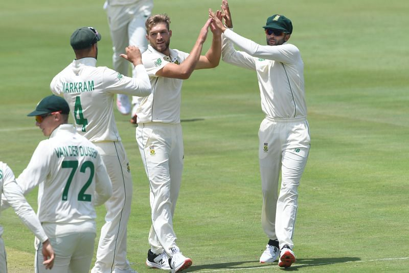 Wiaan Mulder took two key wickets for South Africa in the second innings
