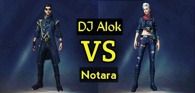 DJ Alok and Notora are two of the most popular characters in Free Fire (Image via Sushant Gaming/YouTube)