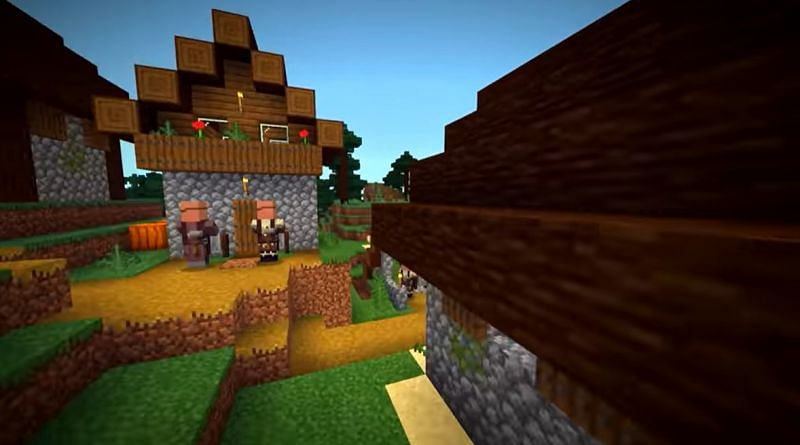 There are eight blacksmiths in a single village in this Minecraft seed (Image via Minecraft & Chill/YouTube)