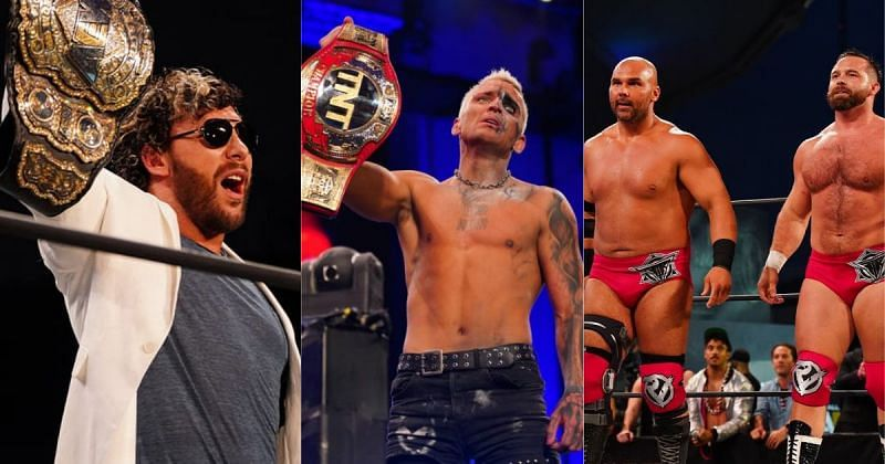 Kenny Omega, Darby Allin, and FTR.