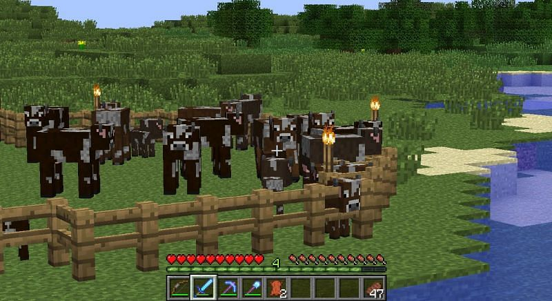 Fences are used to enclose or trap mobs