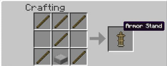 Put smooth stone slabs and sticks needed for the recipe in the menu