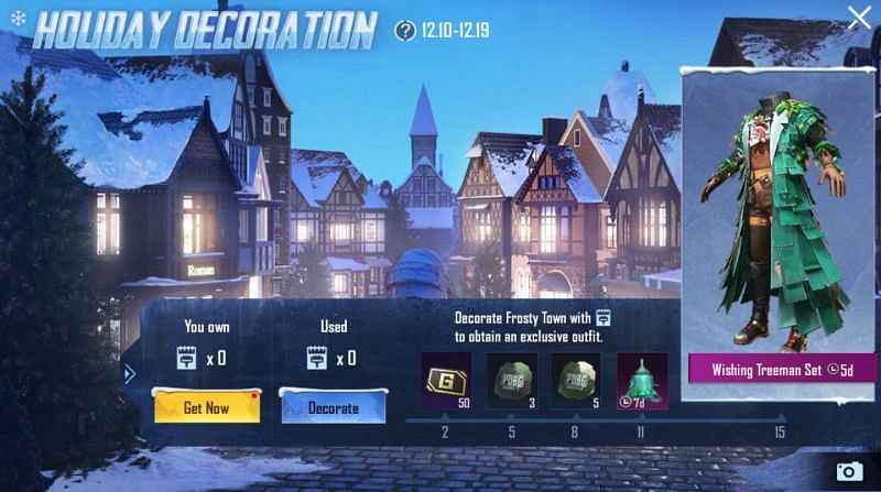 Holiday Decoration event in PUBG Mobile