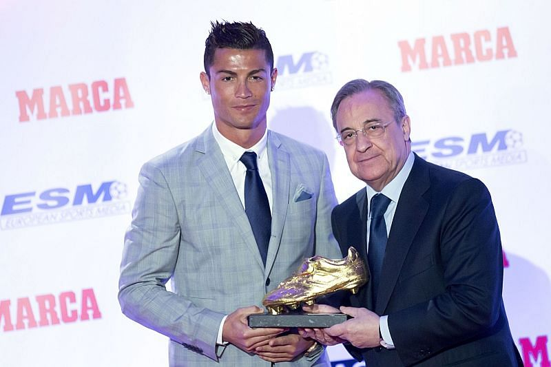 Cristiano Ronaldo Receives his fourth Golden Boot award.