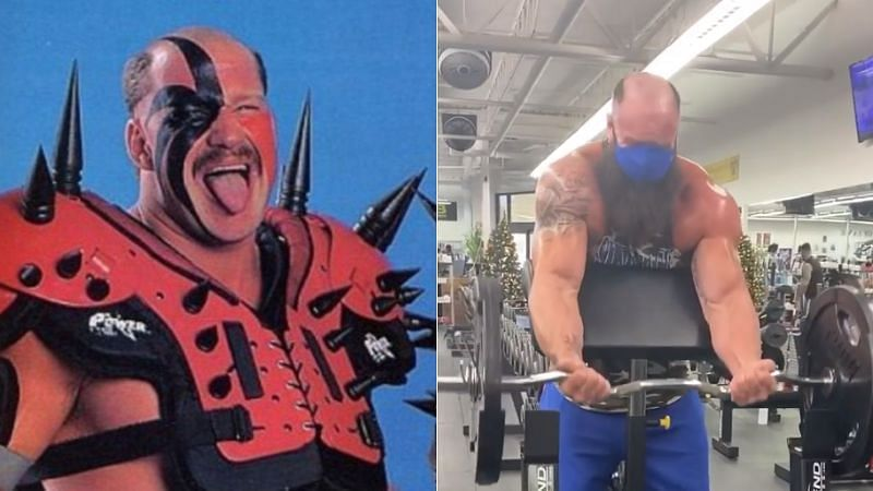 Road Warrior Hawk (left); Braun Strowman (right)
