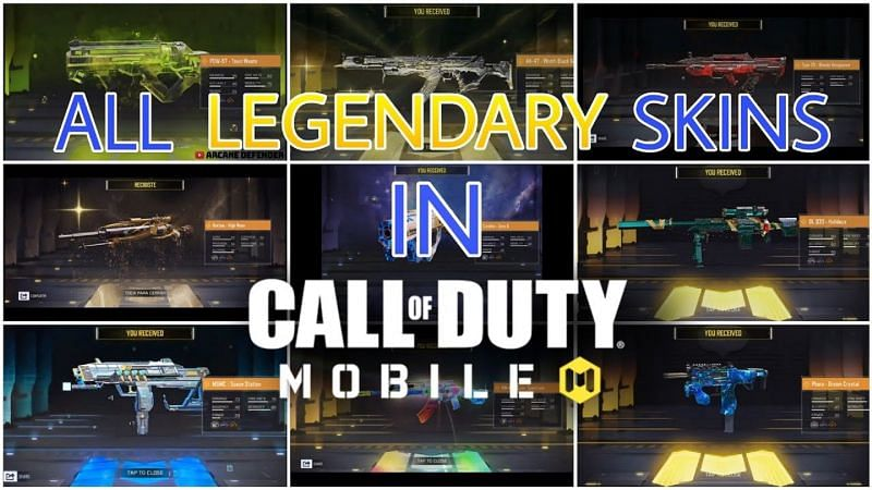 All legendary weapons in COD Mobile (Image via Lx Shiriga/YouTube)
