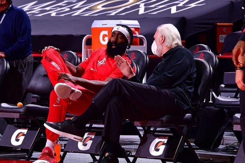 James Harden in the Houston Rockets preseason game