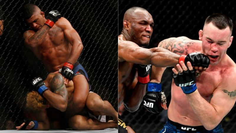 UFC 258 is scheduled to be headlined by Kamaru Usman (R) and Gilbert Burns (L)