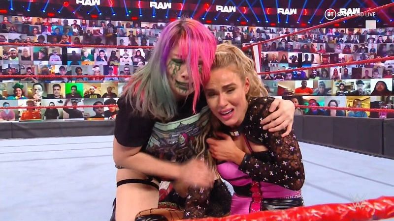 Lana was the victim of a vicious beatdown from Nia Jax and Shayna Baszler