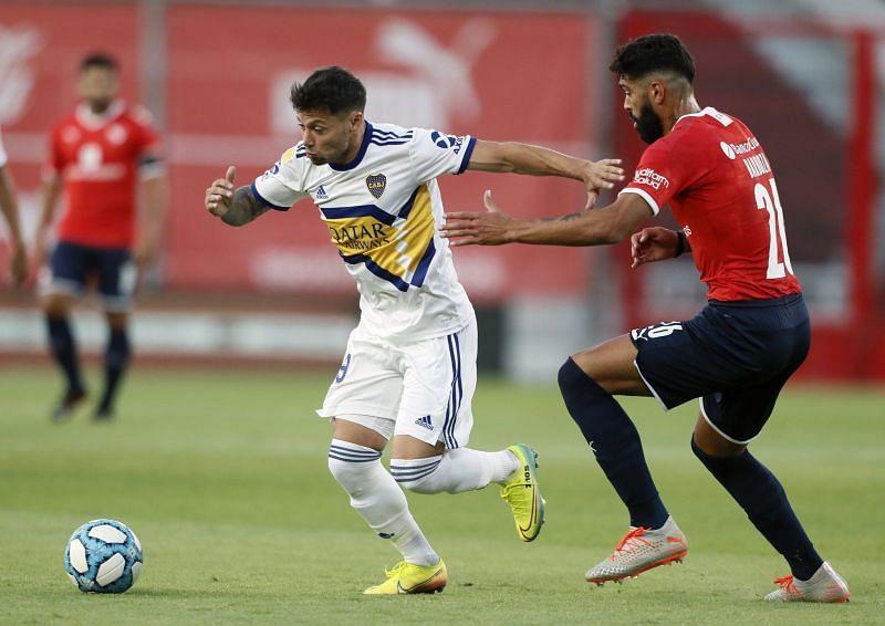 Boca Juniors host Racing Club in their Copa Libertadores quarter-final second leg fixture.