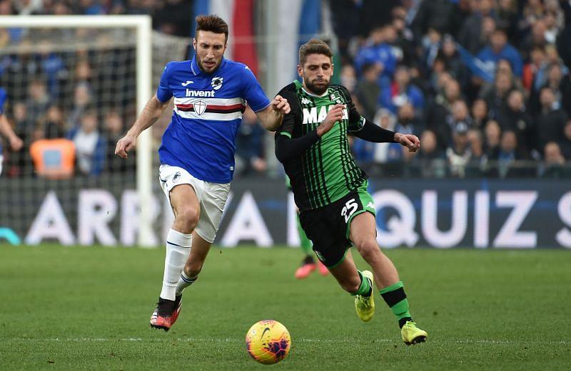 Sampdoria face Sassuolo in Serie A