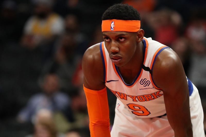 RJ Barrett in action for the New York Knicks