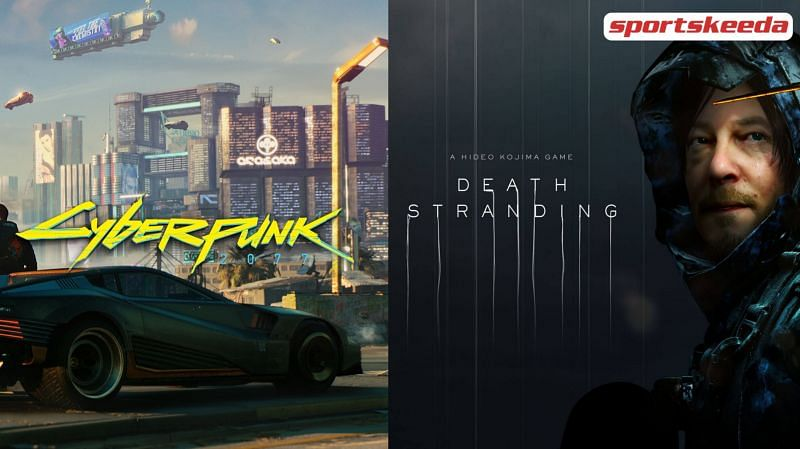 Death Stranding just received a brand new Cyberpunk 2077 themed update which brought interesting Cybperpunk related items to the game (Image via Sportskeeda)