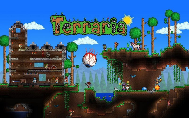 A collection of secret world seeds for Terraria 1.4 (Image via wallpapercave.com)