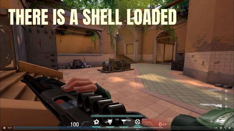 The Bucky has a shell even on 0 bullets (Image via u/ArfieCat)