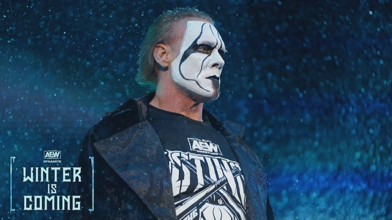 Sting made his shocking debut at AEW Winter Is Coming.
