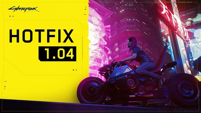 Hotfix 1.04 for Cyberpunk 2077 is out (Image via CD Projekt Red)