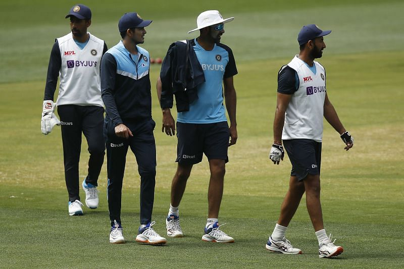The Indian team during a nets session in Melbourne