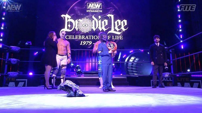 Brodie Lee Jr. was named AEW TNT Champion for life