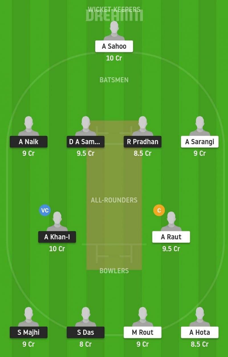 Odisha T20: ODT vs ODC Dream11 Tips