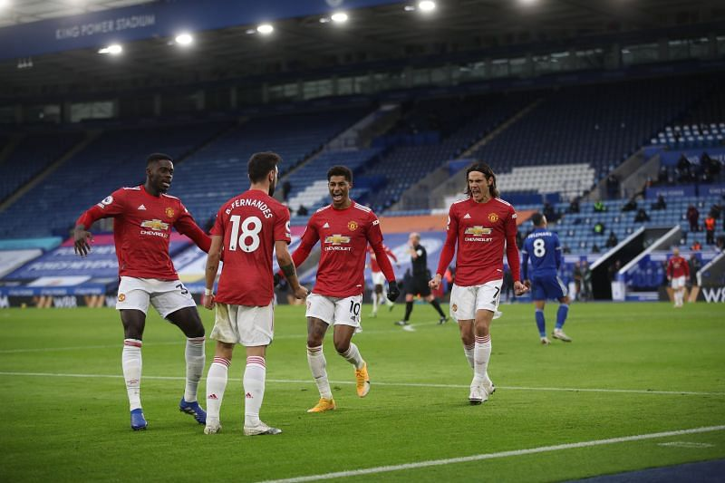 Manchester United played a 2-2 draw with Leicester City