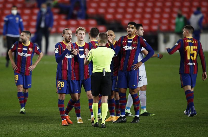 Barcelona struggled against Valencia