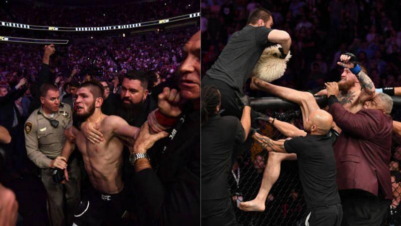 Khabib Nurmagomedov and Conor McGregor lose it post UFC 229