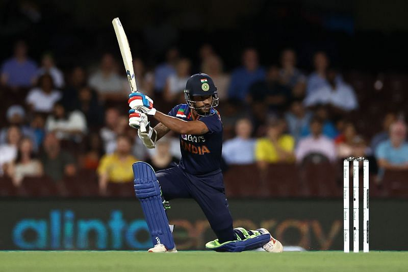 Shikhar Dhawan top-scored for India in the 2nd T20I against Australia
