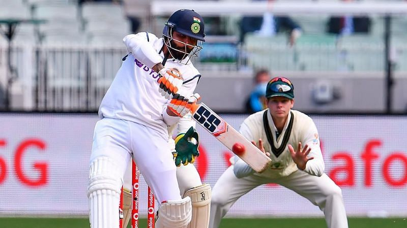 Ravindra Jadeja in action during the Boxing Day test