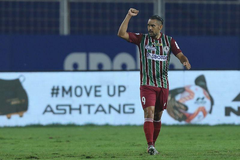David Williams celebrates after scoring for ATK Mohun Bagan (Image Courtesy: ISL Media)