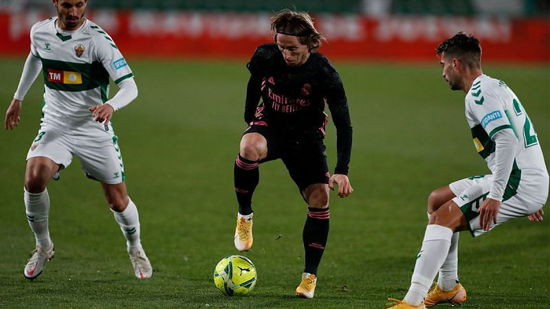 Real Madrid were held to a 1-1 draw by Elche.