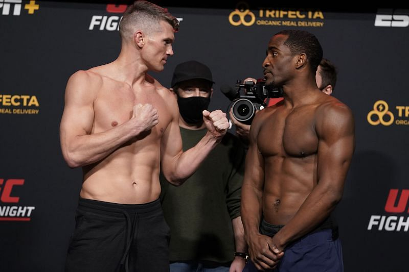 pponents Stephen Thompson and Geoff Neal face off