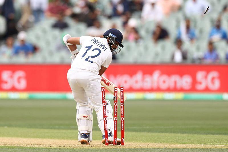 Prithvi Shaw registered a two-ball duck in the first innings