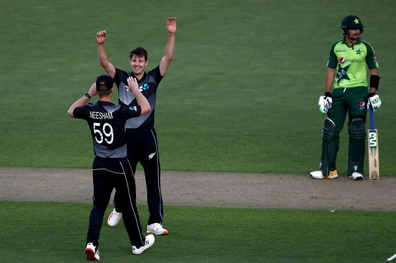 Jacob Duffy took four wickets on his New Zealand debut