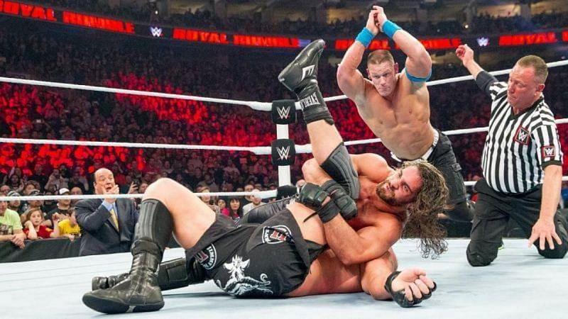 Royal Rumble 2015 में जॉन सीना vs ब्रॉक लैसनर vs सैथ राॅलिंस का शानदार मैच देखने को मिला था