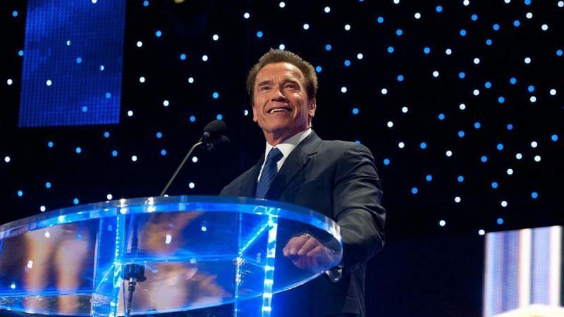 Arnold Schwarzenegger is a WWE Hall of Famer