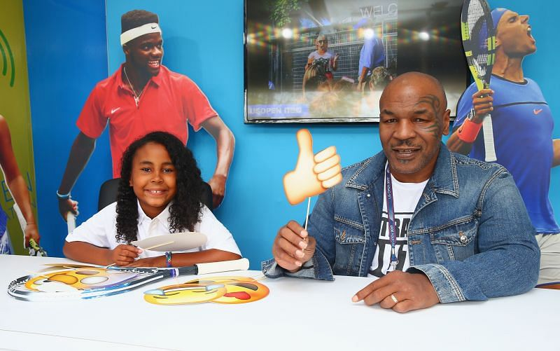 Mike Tyson with his daughter Milan