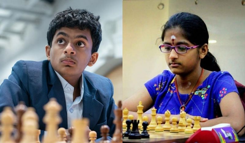 Nihal Sarin (left) and Rakshitta Ravi claimed gold medals in the World Youth Chess Championships