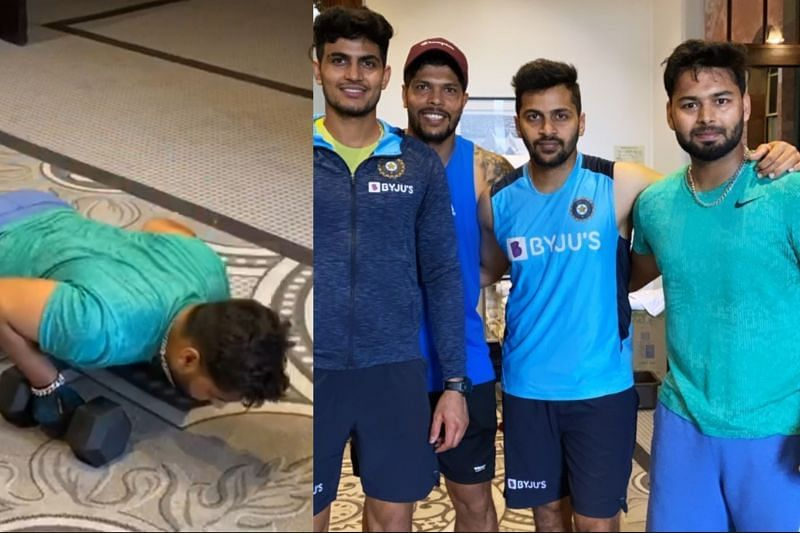 Rishabh Pant was spotted working hard before the ICC World Test Championship series against Australia
