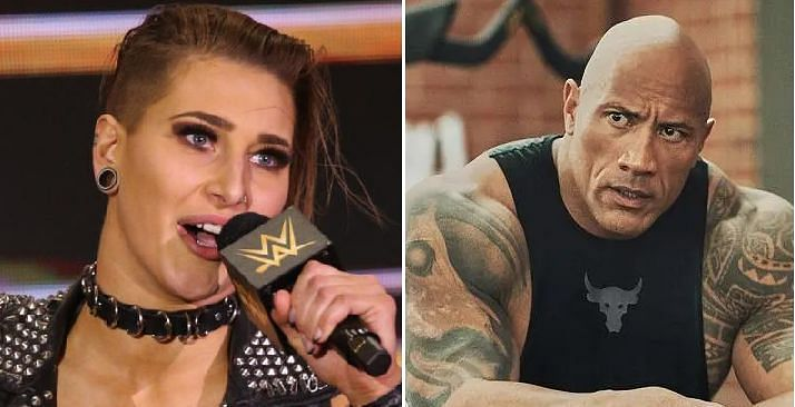 Rhea Ripley and The Rock