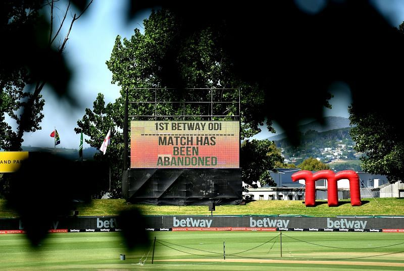 The ODI series between South Africa & England was abandoned.