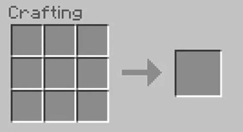 Crafting-Tabellenmenü öffnen