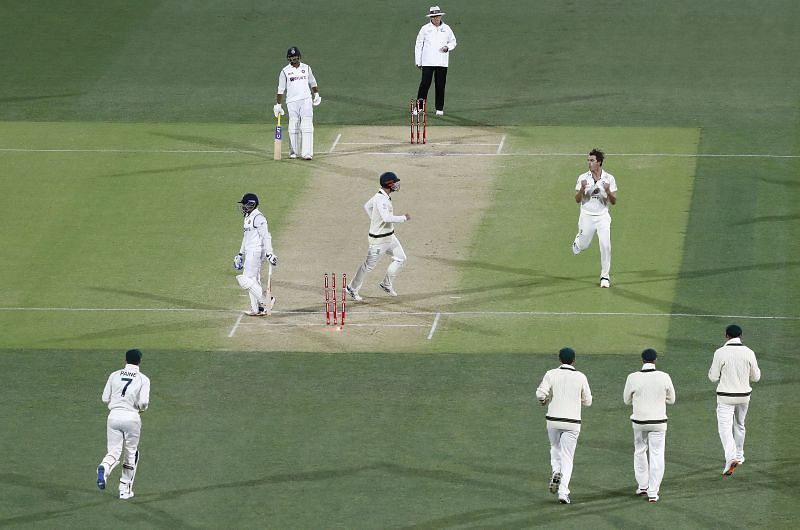 Prithvi Shaw walks back after being bowled for a duck in the first innings