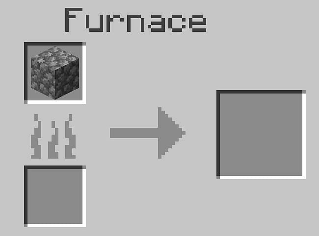 After opening the crafting table fill the top left-most space of the furnace with your cobblestone