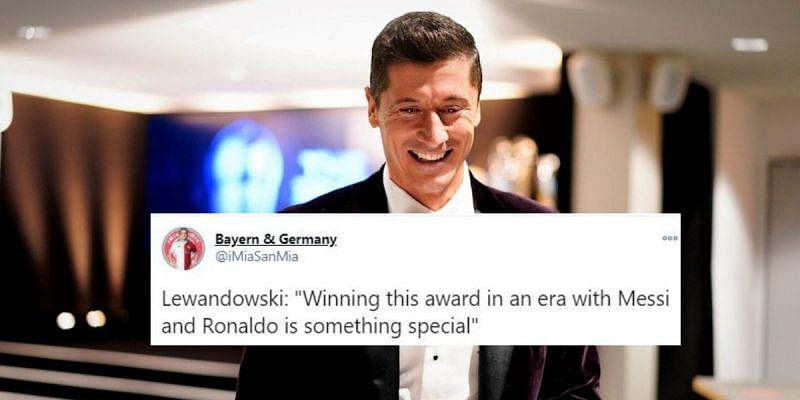 Robert Lewandowski won the prestigious award after a stunning goal-scoring season