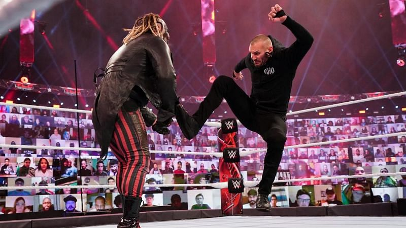 Randy Orton and The Fiend in action