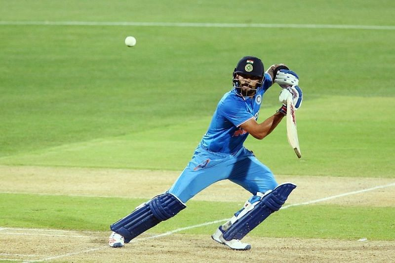 Virat Kohli playing against Australia at Adelaide