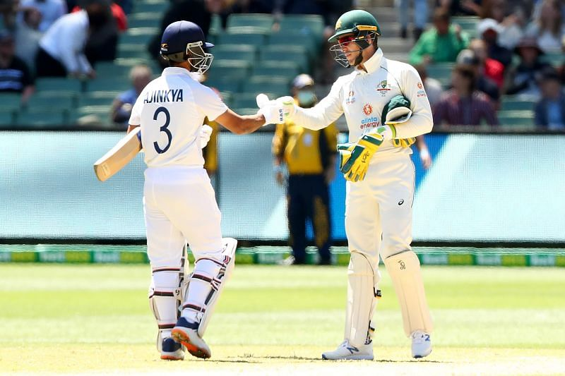 The two captains shake hands as the honours are even with two Tests remaining.