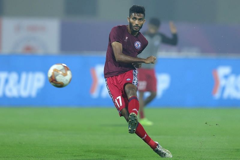 Farukh Choudhary in action for Jamshedpur FC last season (Image Courtesy: ISL Media)